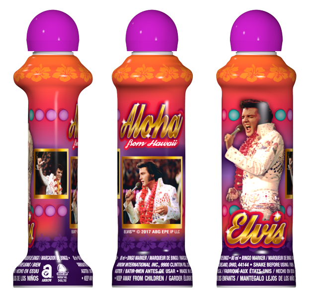 Aloha Elvis Licensed Bingo Ink
