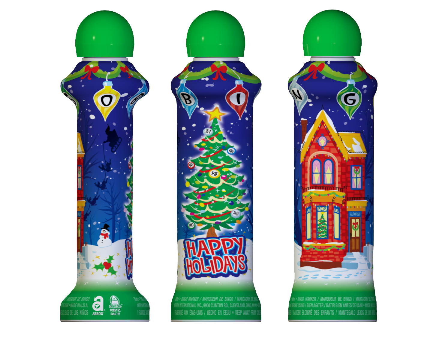 Happy Holidays Bingo Ink Markers