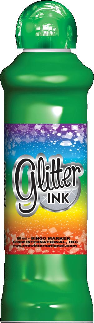 Green Glitter Ink