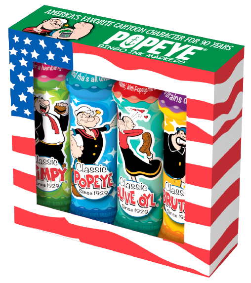 Popeye Bingo Ink Gift Set