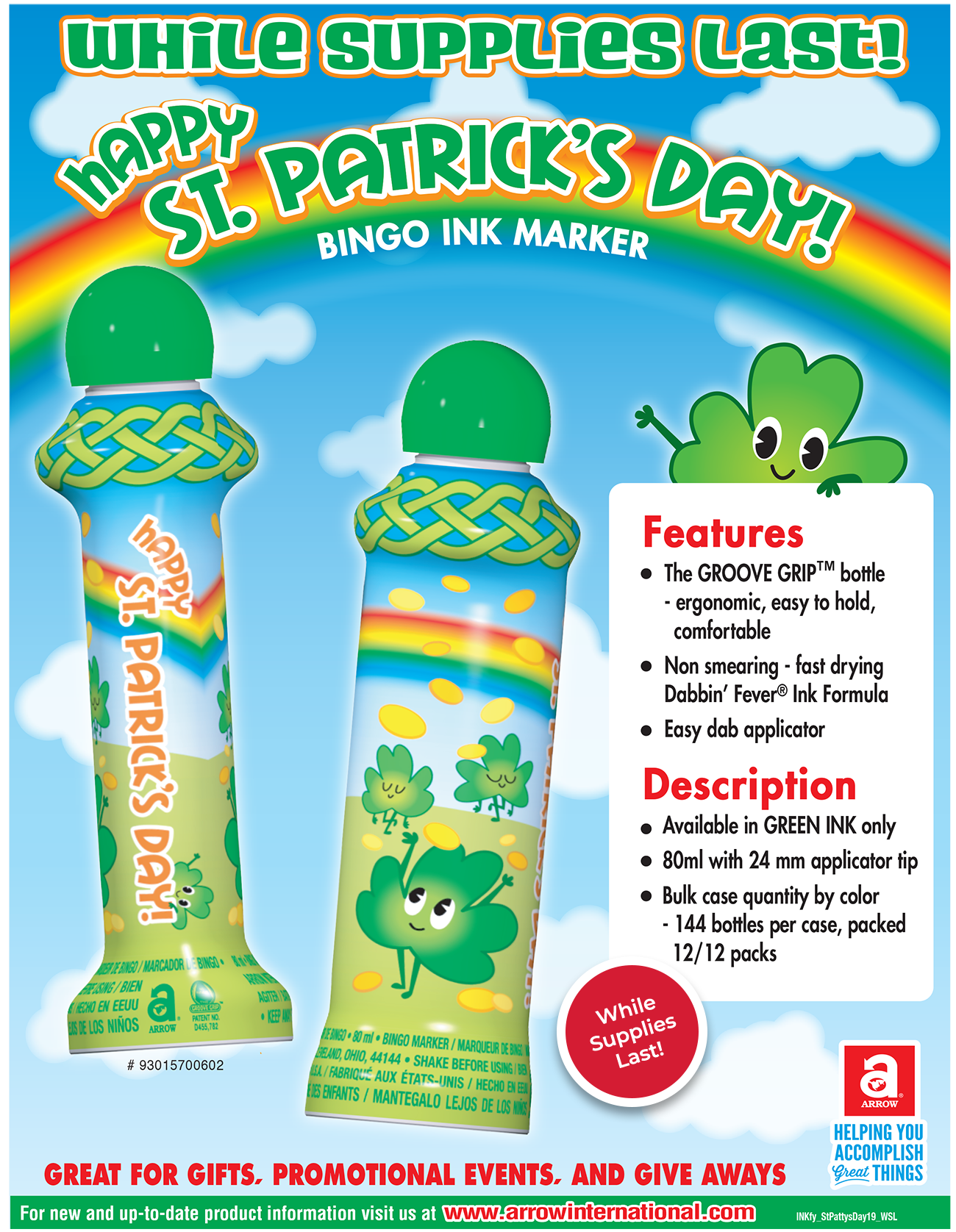 Happy St. Patrick's Day - While Supplies Last